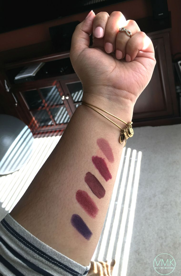 purple swatches